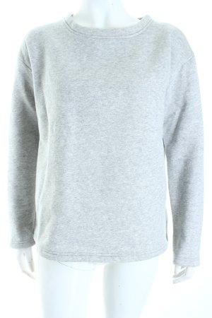 SassyClassy Sweatshirt hellgrau meliert Casual-Look