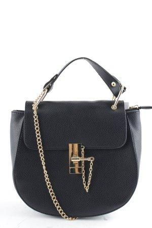 SassyClassy Umhängetasche schwarz-goldfarben schlichter Stil