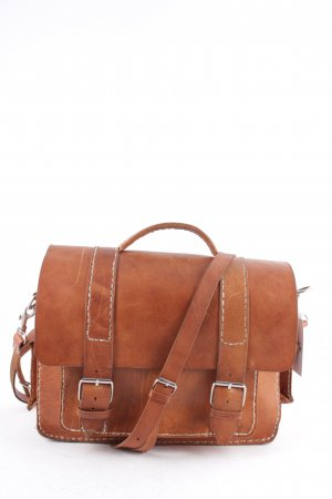 Satchel cognac-coloured vintage look