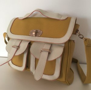Satchel multicolored imitation leather