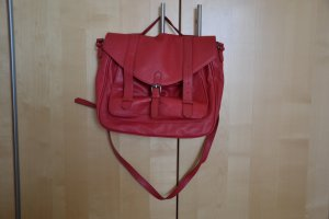 Springfield Satchel red-raspberry-red imitation leather