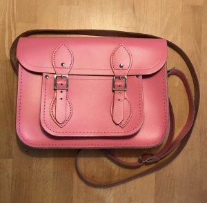Satchelbag Umhängetasche Pink Leder