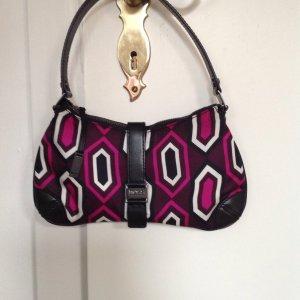 Satin Abendhandtasche mit geometrischem Muster