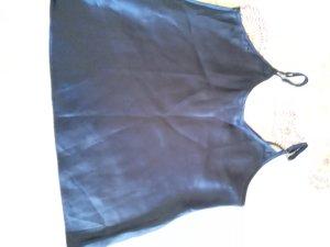 Haut à fines bretelles bleu foncé