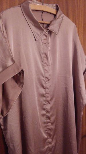 Satin-Blusenkleid mit kurzen Ärmeln in Rosegold