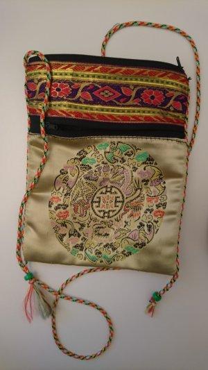 Satin ethno Tasche mit Asia Stickerei
