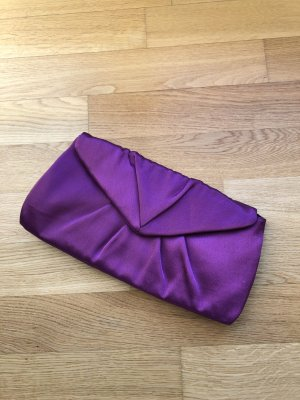 Satin Evening Clutch Violett