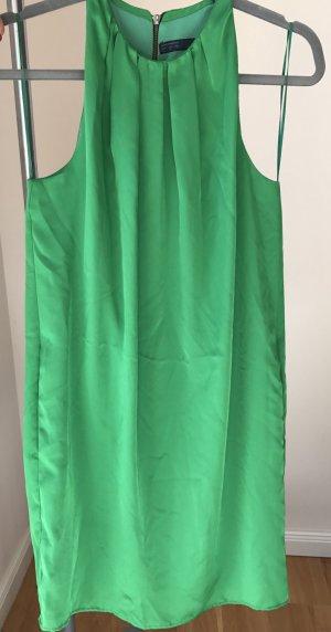 Satin grün neckholder Kleid