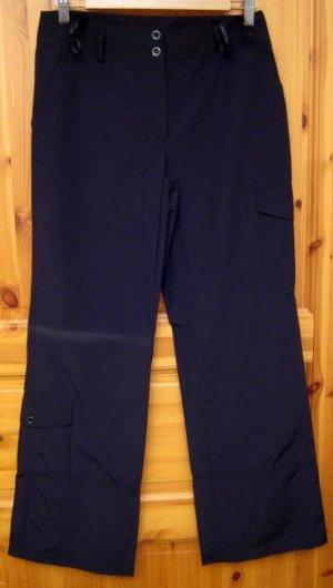 Pantalon cargo noir tissu mixte