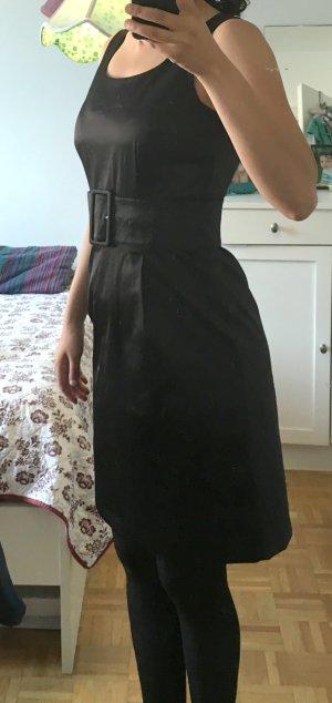 Satin Kleid von H&M in Schwarz, Größe 38