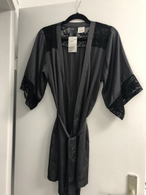 H&M Dressing Gown black-grey