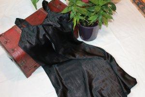 Satin-Nachthemd schwarz