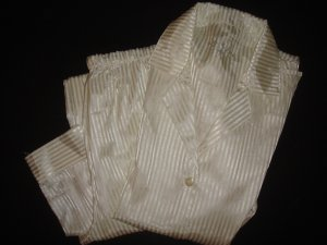 Satin- Pyjama weiß, Größe M