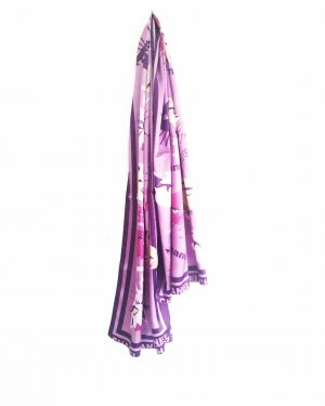 satin schal / vintage / lila / purple / chanel / paris chic