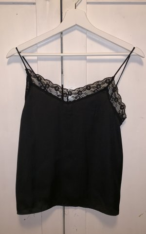 Bershka Silk Top black