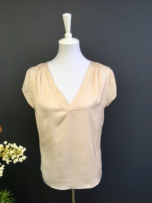 H&M Conscious Collection Blouse brillante beige clair-blanc cassé