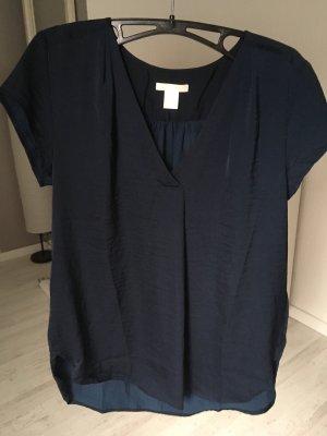 Satinbluse dunkelblau H&M