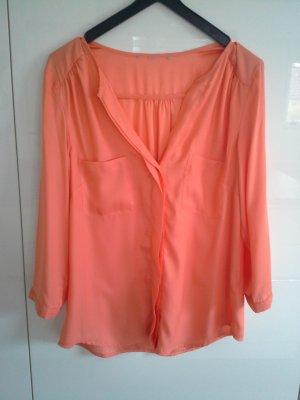 H&M Glanzende blouse oranje
