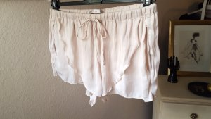 satinierte Shorts rosa