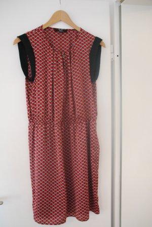 Satinkleid Kleid mit geometrischem Muster