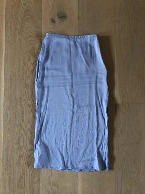 Mango Zijden rok neon blauw