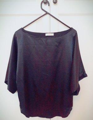 Vicolo Camisa de cuello barco negro poliamida