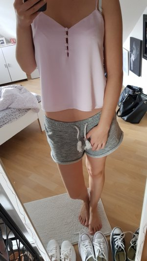 Bershka Crop-top rose clair