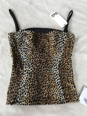 Satintop im Animal Print von D&G (Dolce & Gabbana) Größe XS