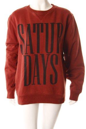 Saturdays Sweatshirt rostrot