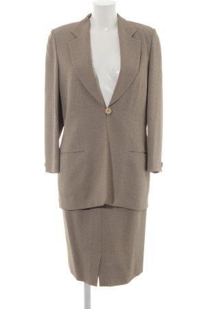 Sautter Traje para mujer beige-negro diseño de espiga estilo «business»