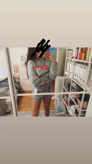 Capuchon sweater lichtgrijs-grijs