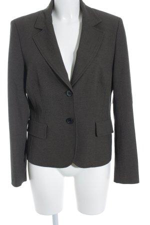 Savannah Kurz-Blazer graubraun-schwarz Webmuster Business-Look