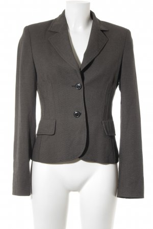 Savannah Kurz-Blazer schwarz-graubraun Punktemuster Casual-Look