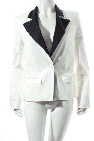 Savannah Kurz-Blazer weiß-schwarz Casual-Look