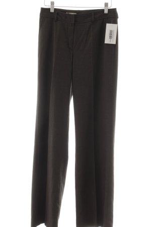 Savannah Stoffhose schwarz-graubraun Punktemuster Casual-Look