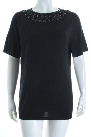 Savannah Strickshirt schwarz Glitzer-Optik