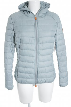 SAVE THE DUCK Winterjacke blassblau-graugrün Steppmuster sportlicher Stil