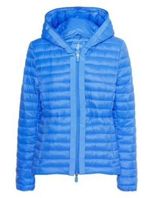 SAVE THE DUCK Quilted Jacket neon blue