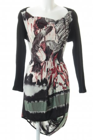 Save the Queen Langarmkleid abstraktes Muster Materialmix-Look