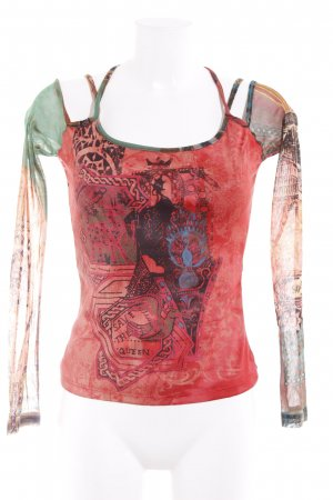 Save the Queen Print-Shirt Mustermix Street-Fashion-Look