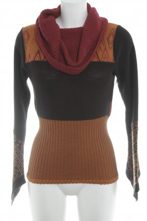 Save the Queen Turtleneck Sweater abstract pattern vintage style