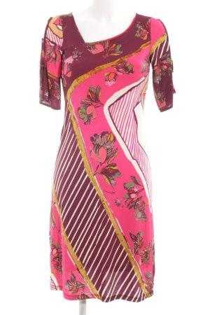 Save the Queen Abito elasticizzato rosa-bianco motivo floreale stile stravagante