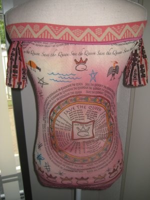 Save the Quenn Shirt Schulerfrei Transparent Rose Bunt Gr S