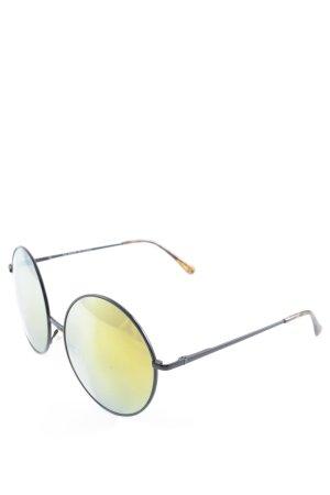 Savile Row Company runde Sonnenbrille dunkelgelb-schwarz Casual-Look