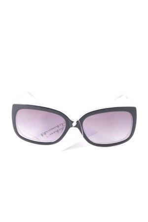 Savini eckige Sonnenbrille schwarz-grau klassischer Stil