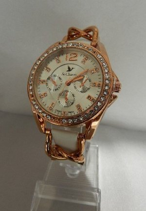 Analog Watch white-rose-gold-coloured