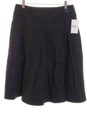 Scapa Jupe à plis noir motif floral élégant
