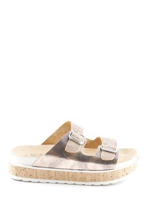 Scapa Platform Sandals animal pattern beach look