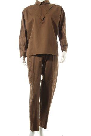 Scarabäus Tailleur pantalone marrone stile semplice