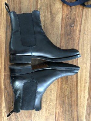 Scarosso Botas bajas negro Cuero